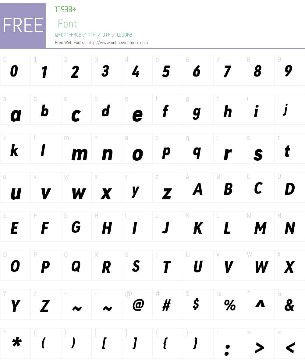 URW Geometric Condensed Font Screenshots