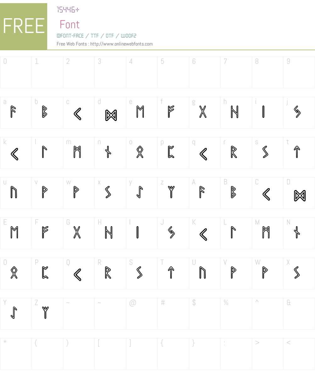 Graip Runic Font Screenshots