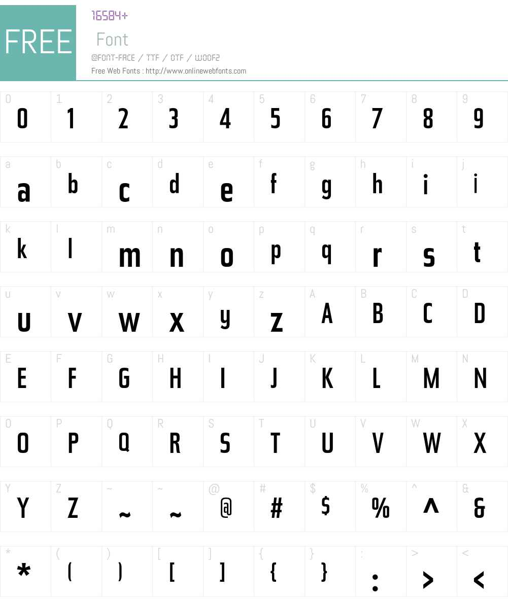Tasse Font Screenshots