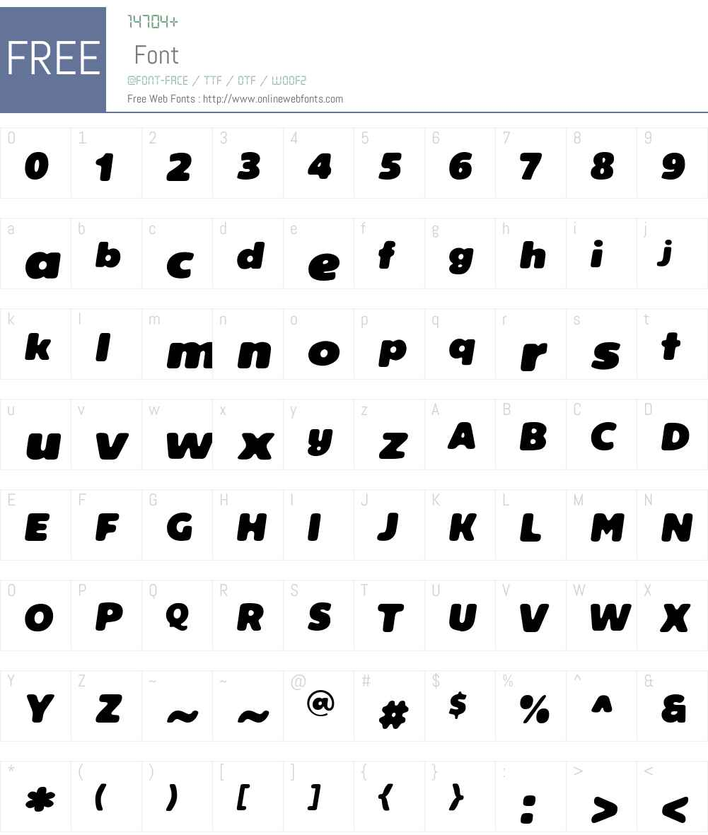Reeler Font Screenshots
