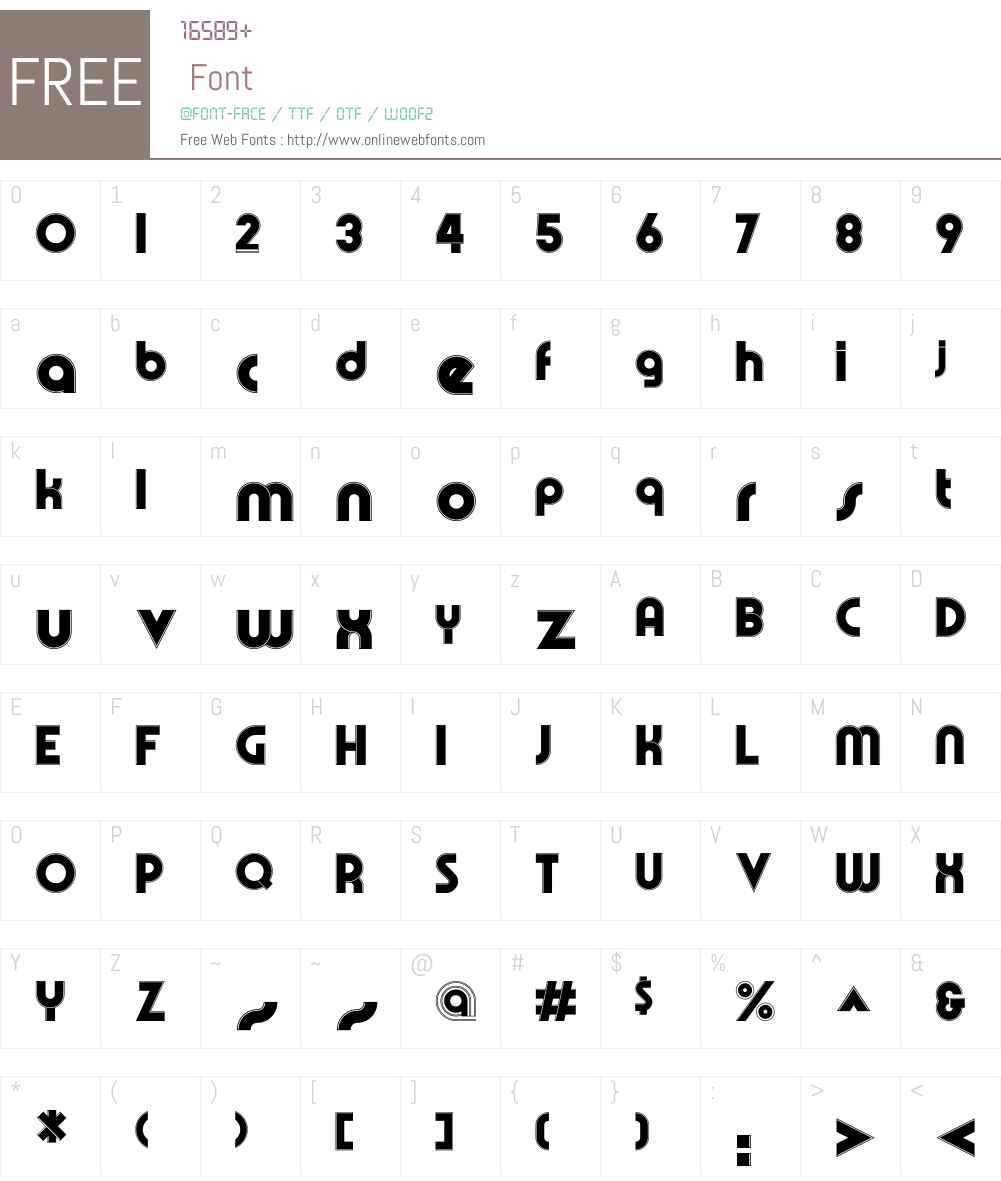OlympikW00-FineLine Font Screenshots