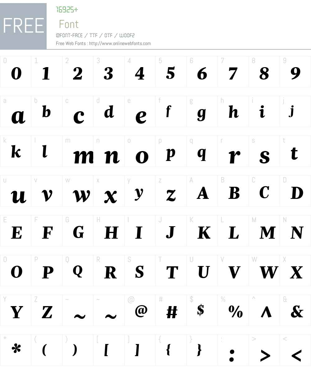 Trola Text Font Screenshots