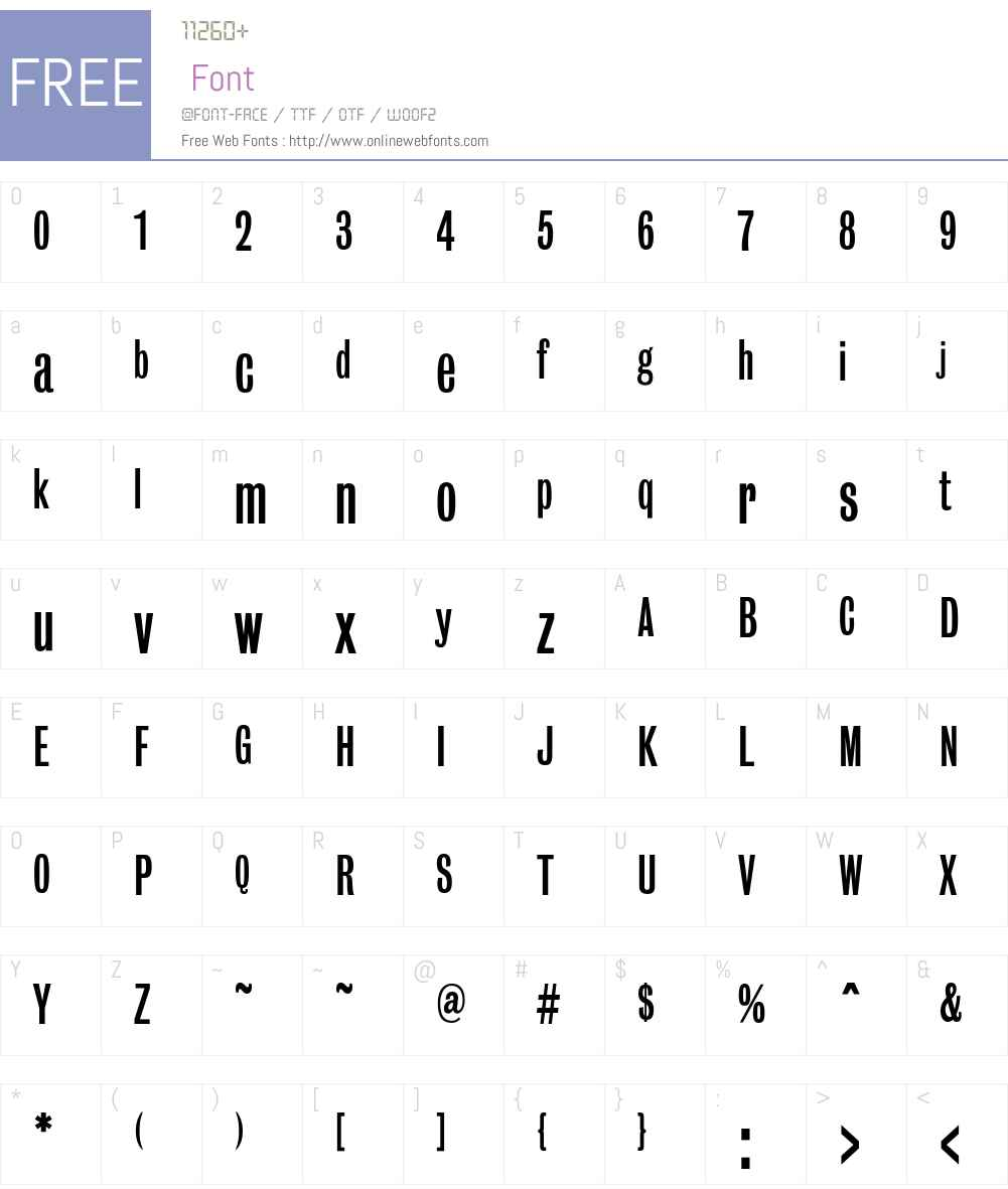 BureauGrotOneThree Font Screenshots