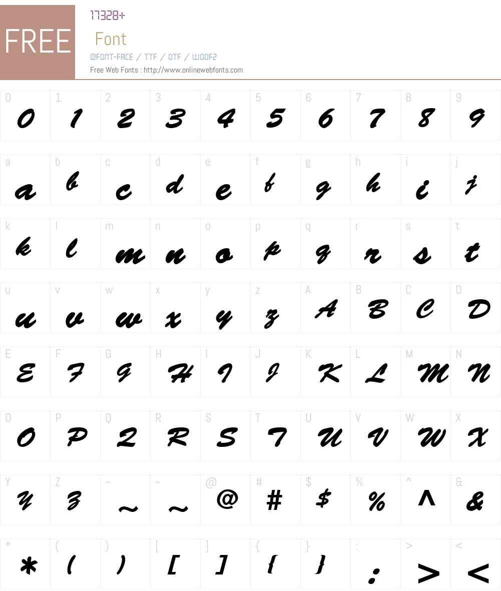 Banty Font Screenshots