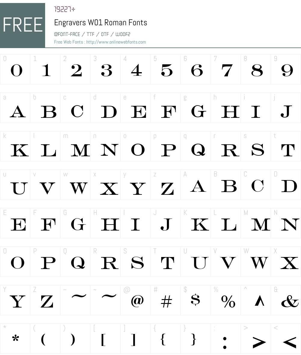 EngraversW01-Roman Font Screenshots