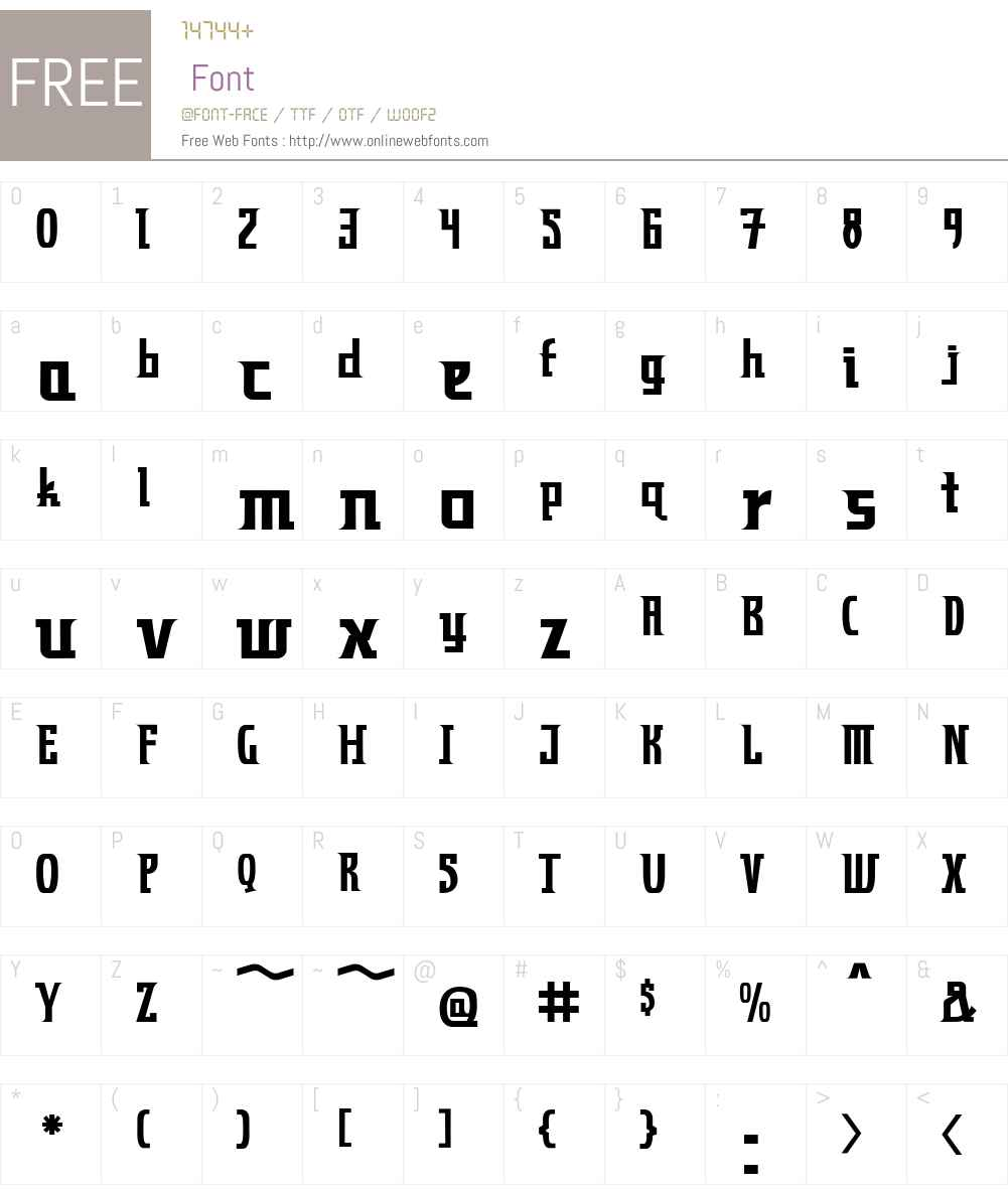 ZynchoW00 Font Screenshots