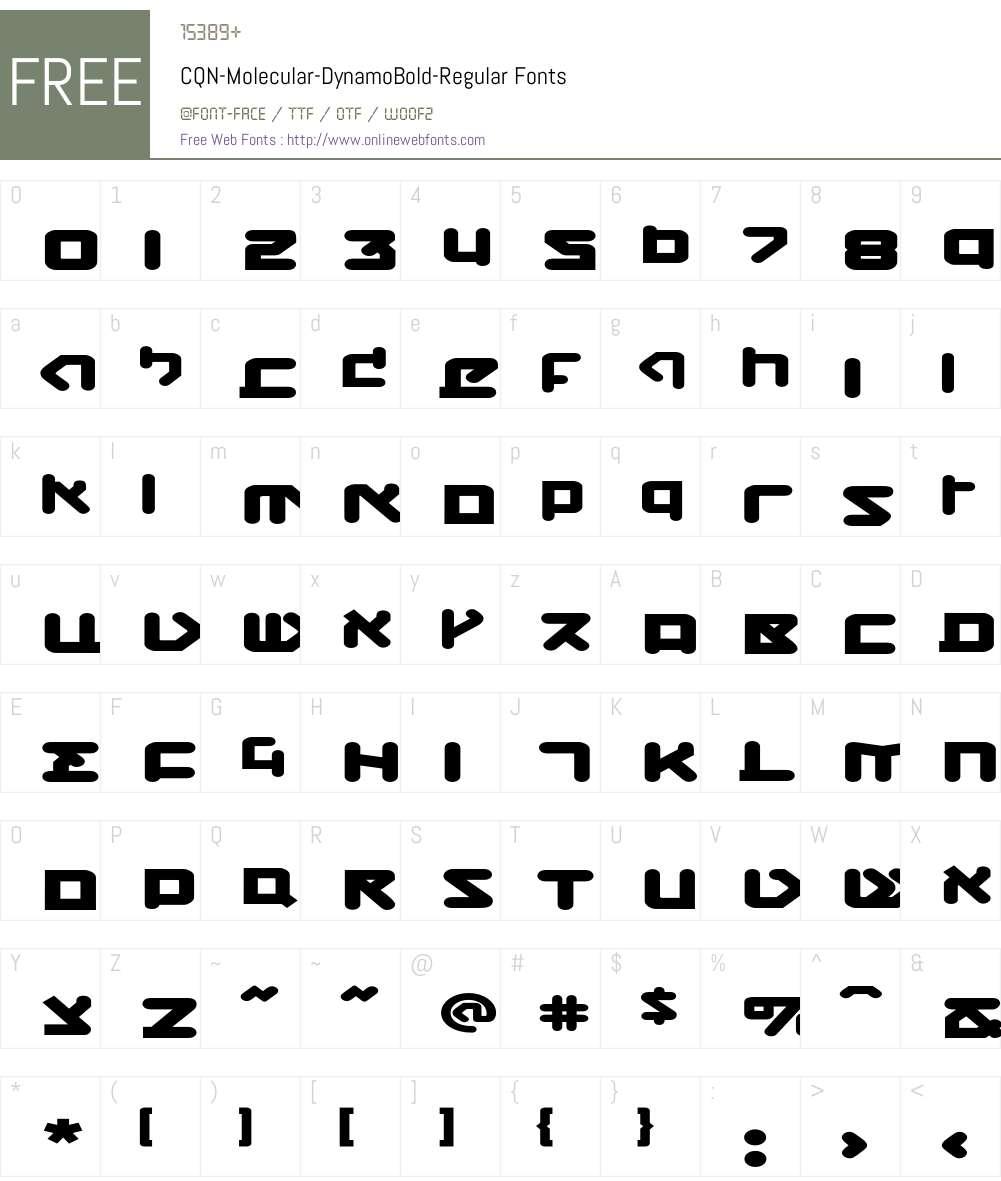 CQN-Molecular-DynamoBold Font Screenshots
