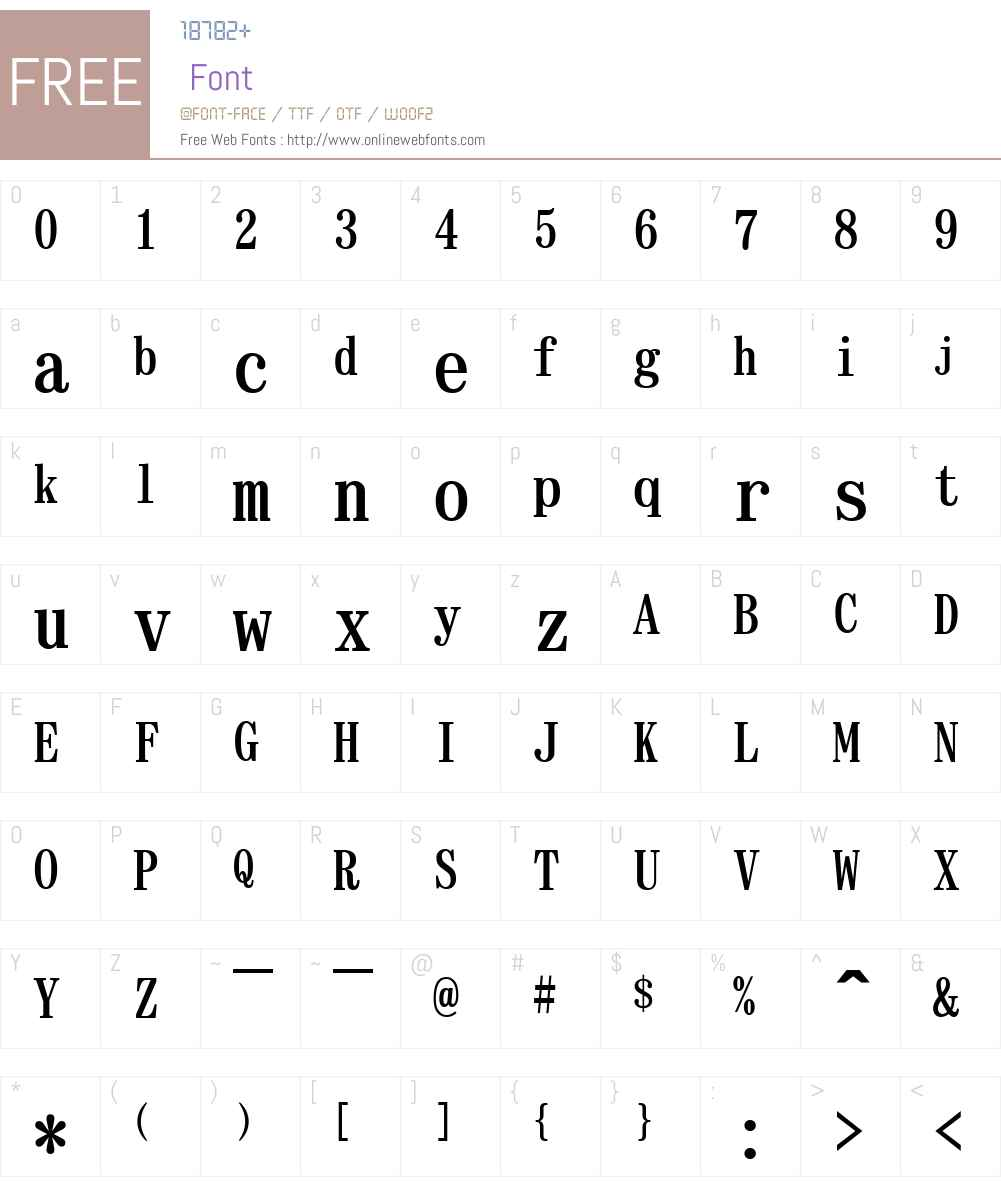 EPSON a Font Screenshots