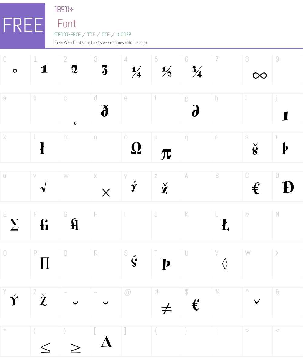 Fontesque Font Screenshots