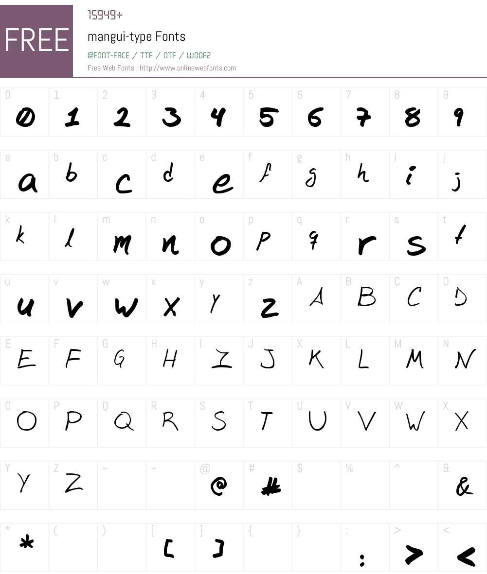 mangui-type Font Screenshots