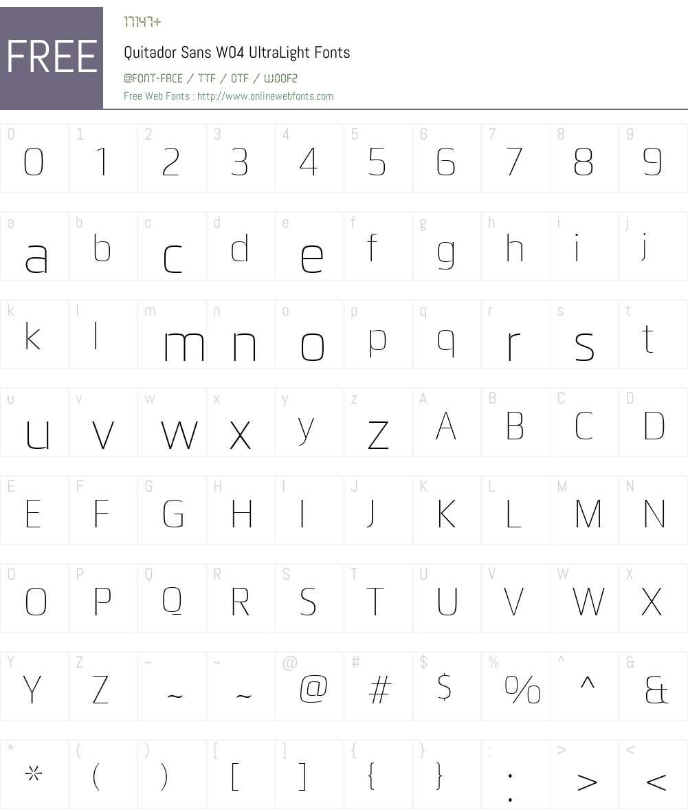 Quitador Sans Font Screenshots