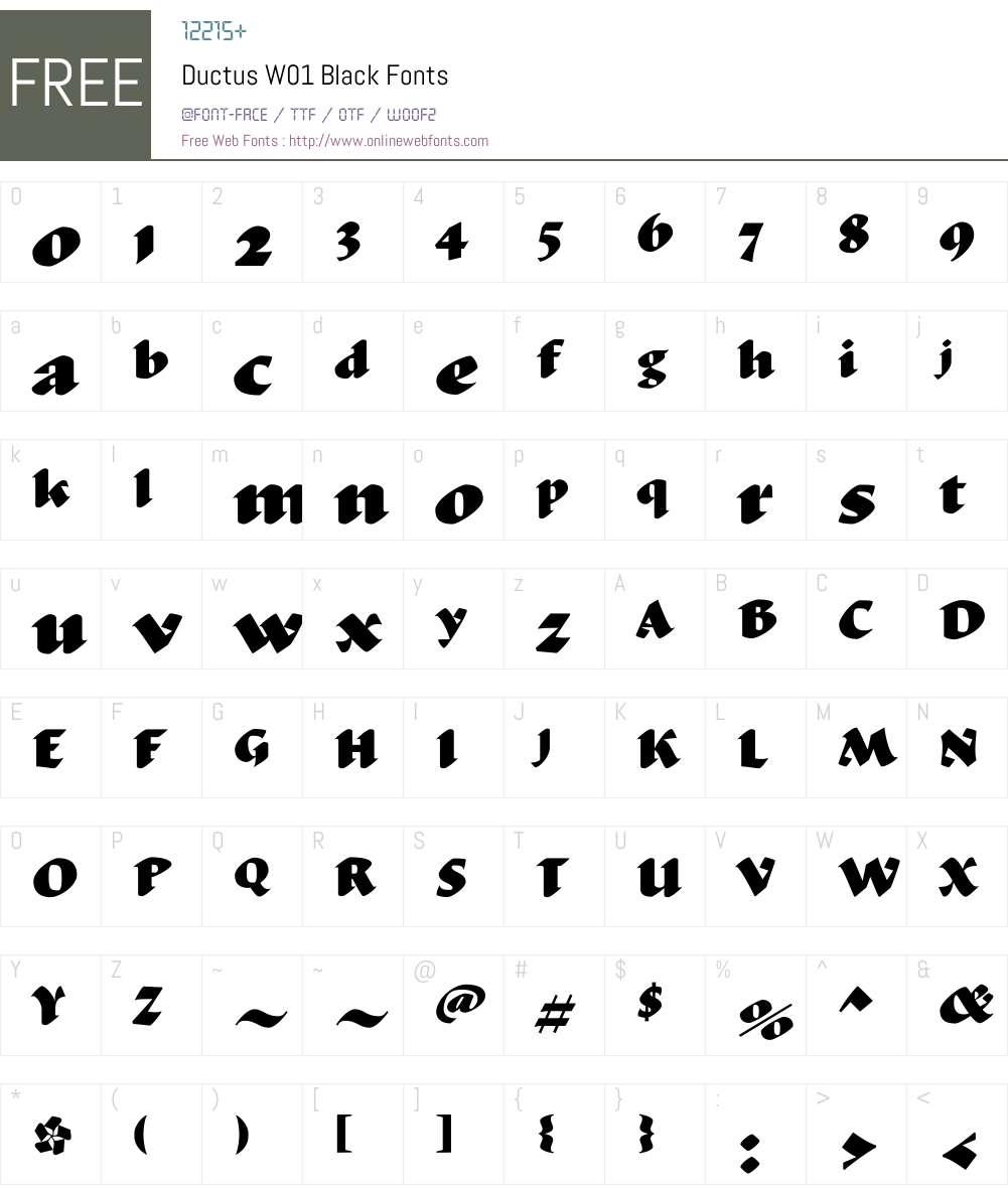 DuctusW01-Black Font Screenshots