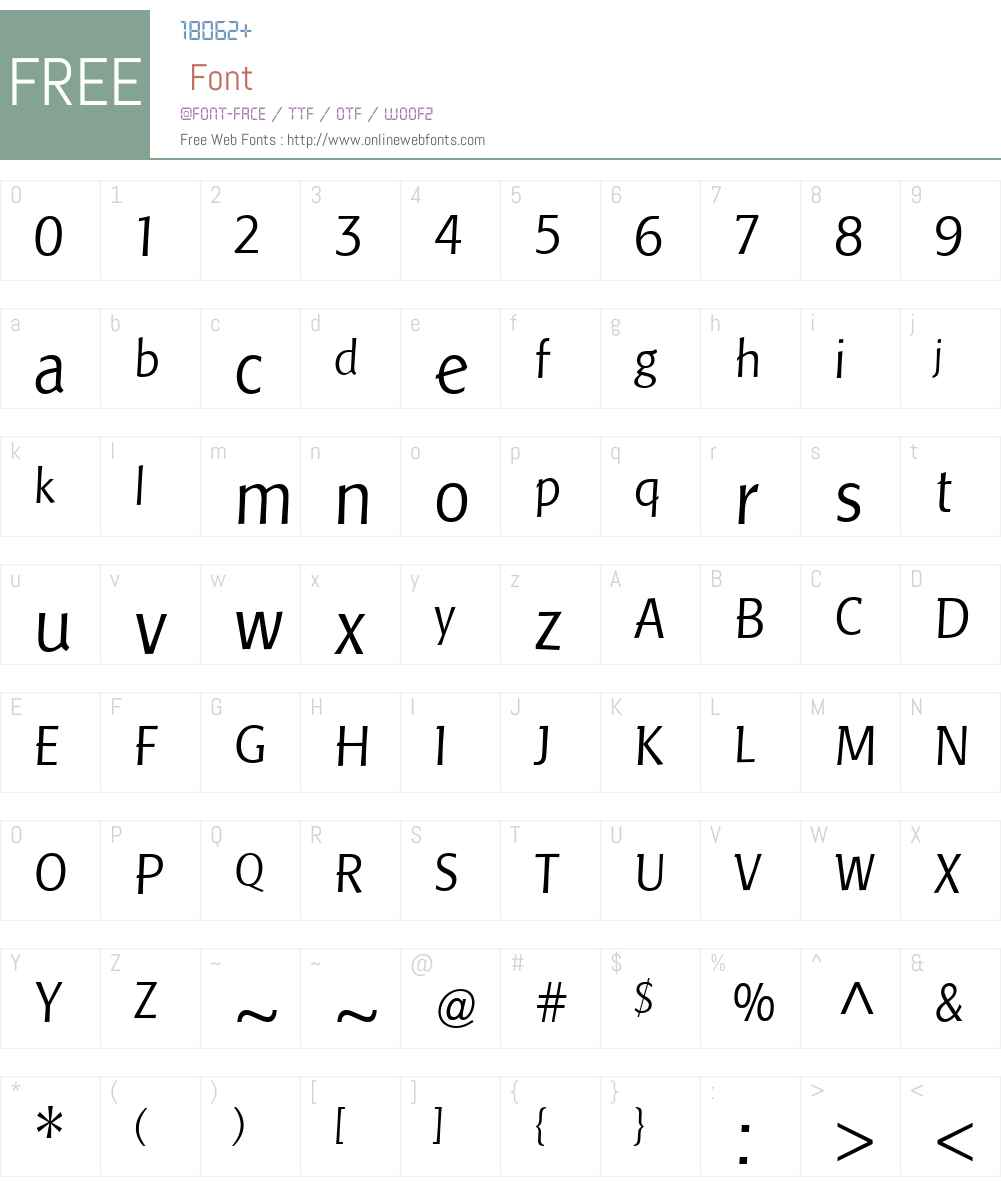 PisaLTW01-Light Font Screenshots