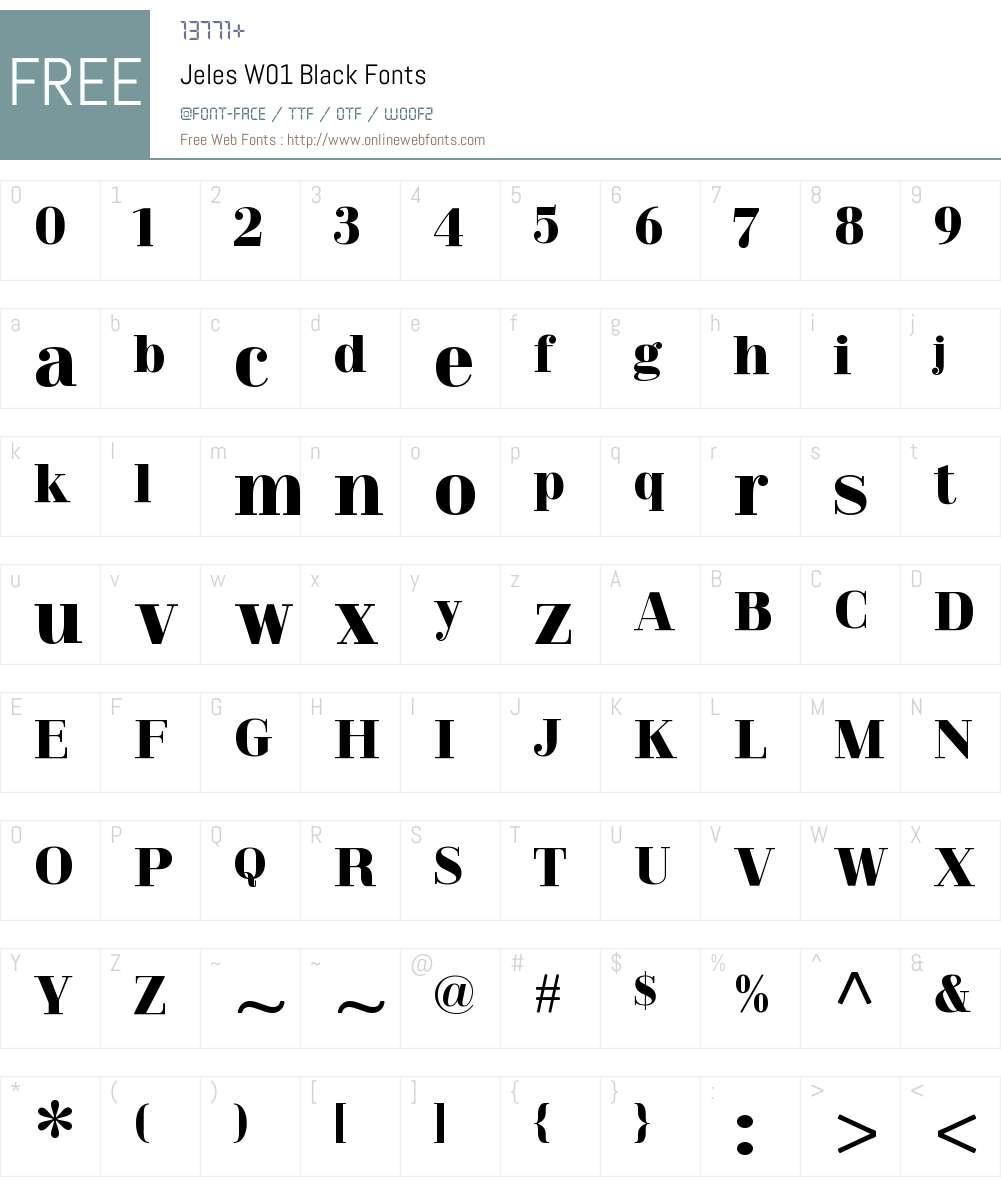 JelesW01-Black Font Screenshots