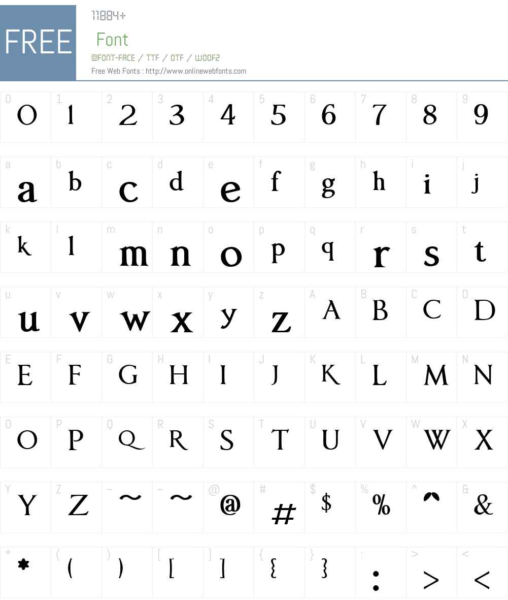 AnavioW01-Bold Font Screenshots