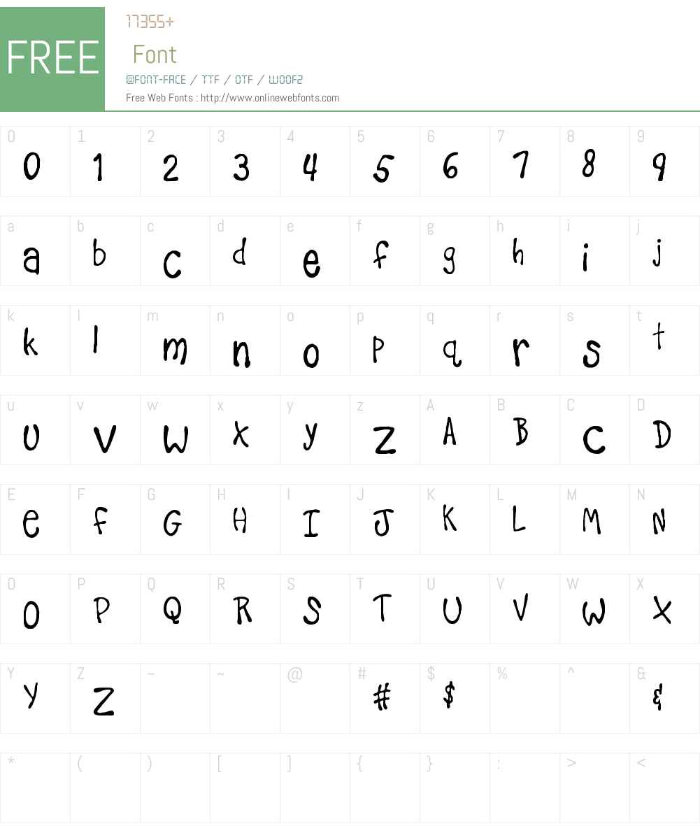 Teacher's Pet Font Screenshots