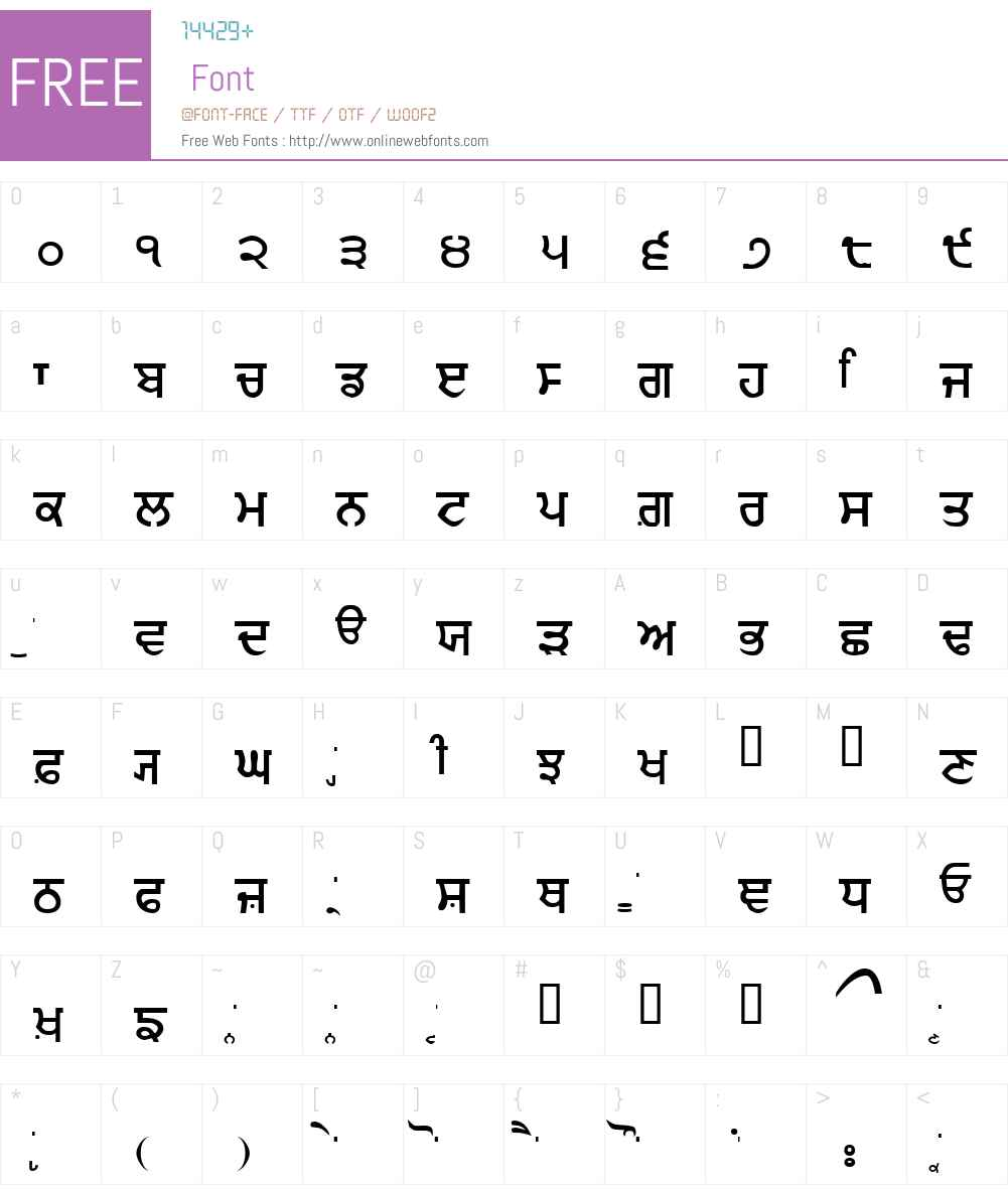 Gurmukhi_IIGS Font Screenshots