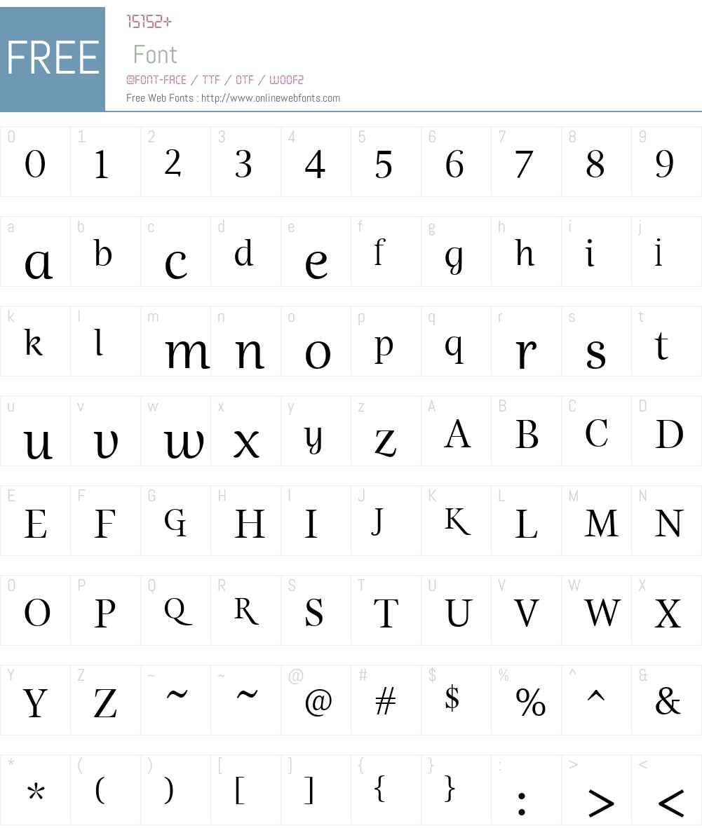 EstaW01-Display Font Screenshots