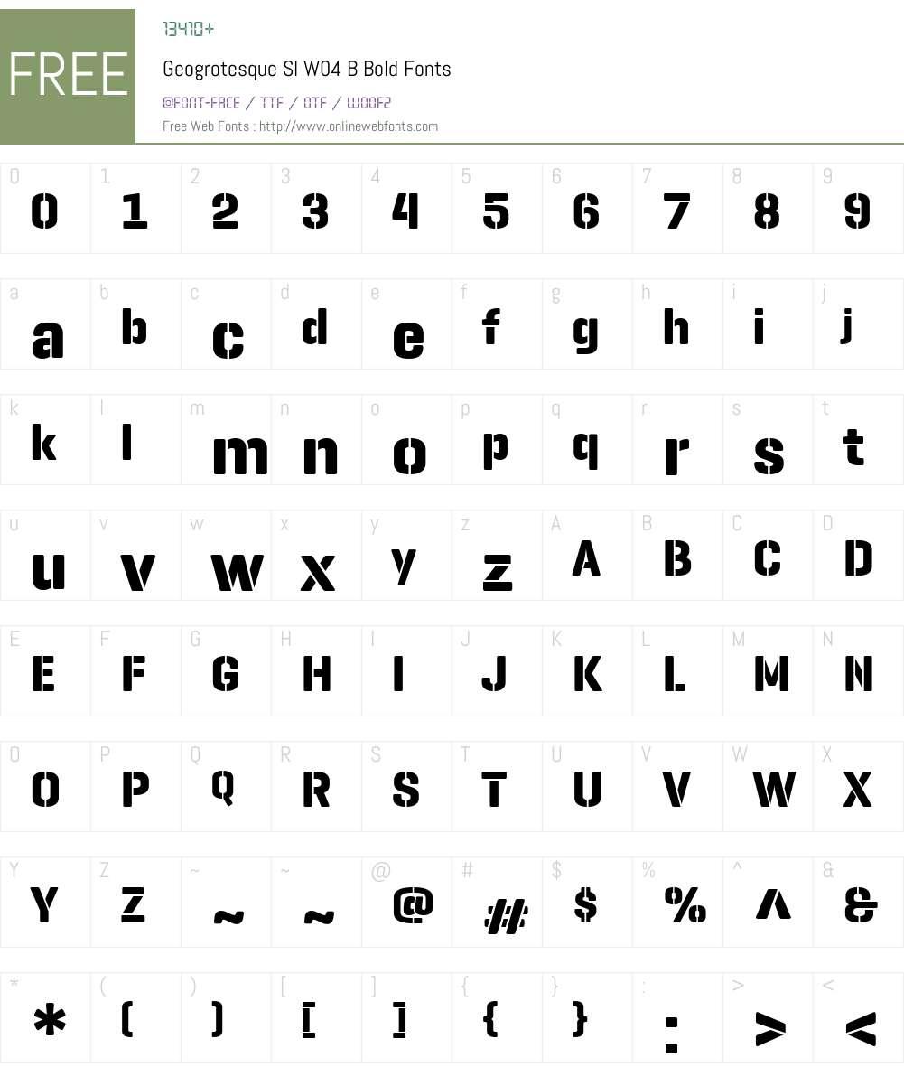 GeogrotesqueSlW04-BBold Font Screenshots