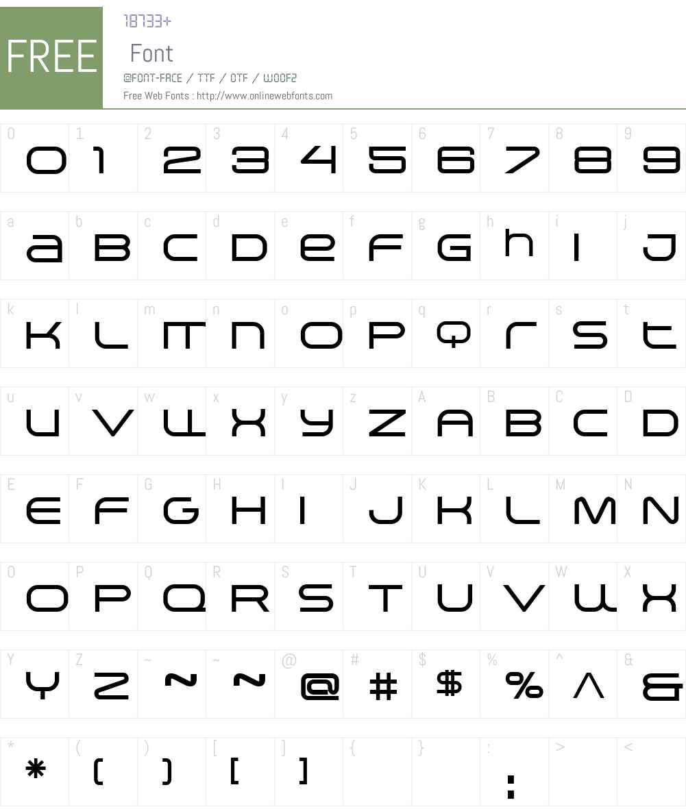 Arkitech Medium Font Screenshots