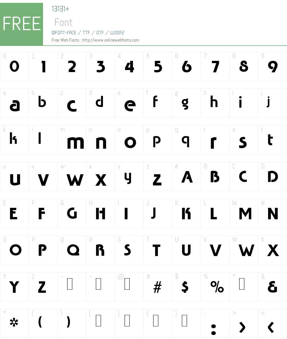 Tabasco Font Screenshots