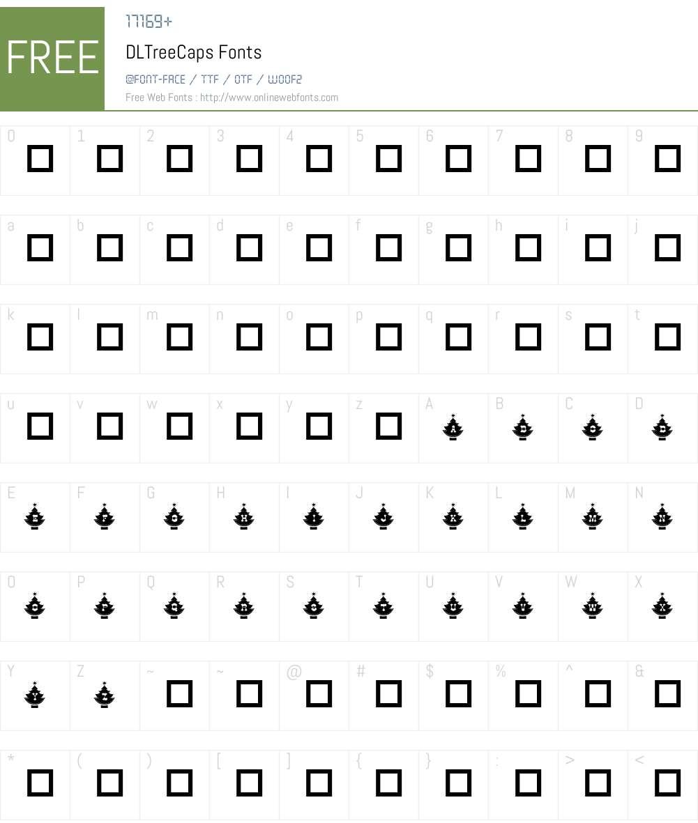 DLTreeCaps Font Screenshots
