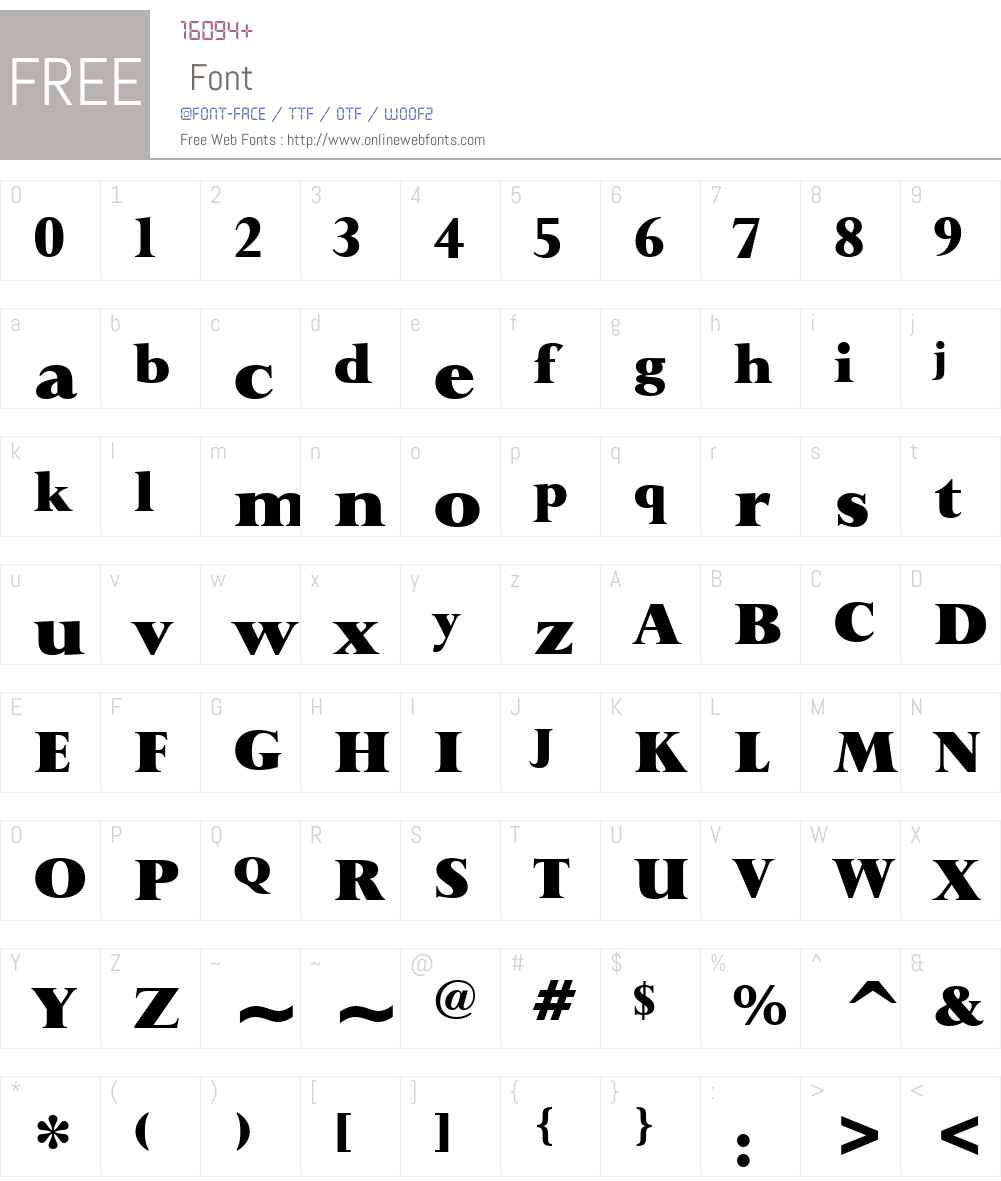 Lapidary333 Blk BT Font Screenshots