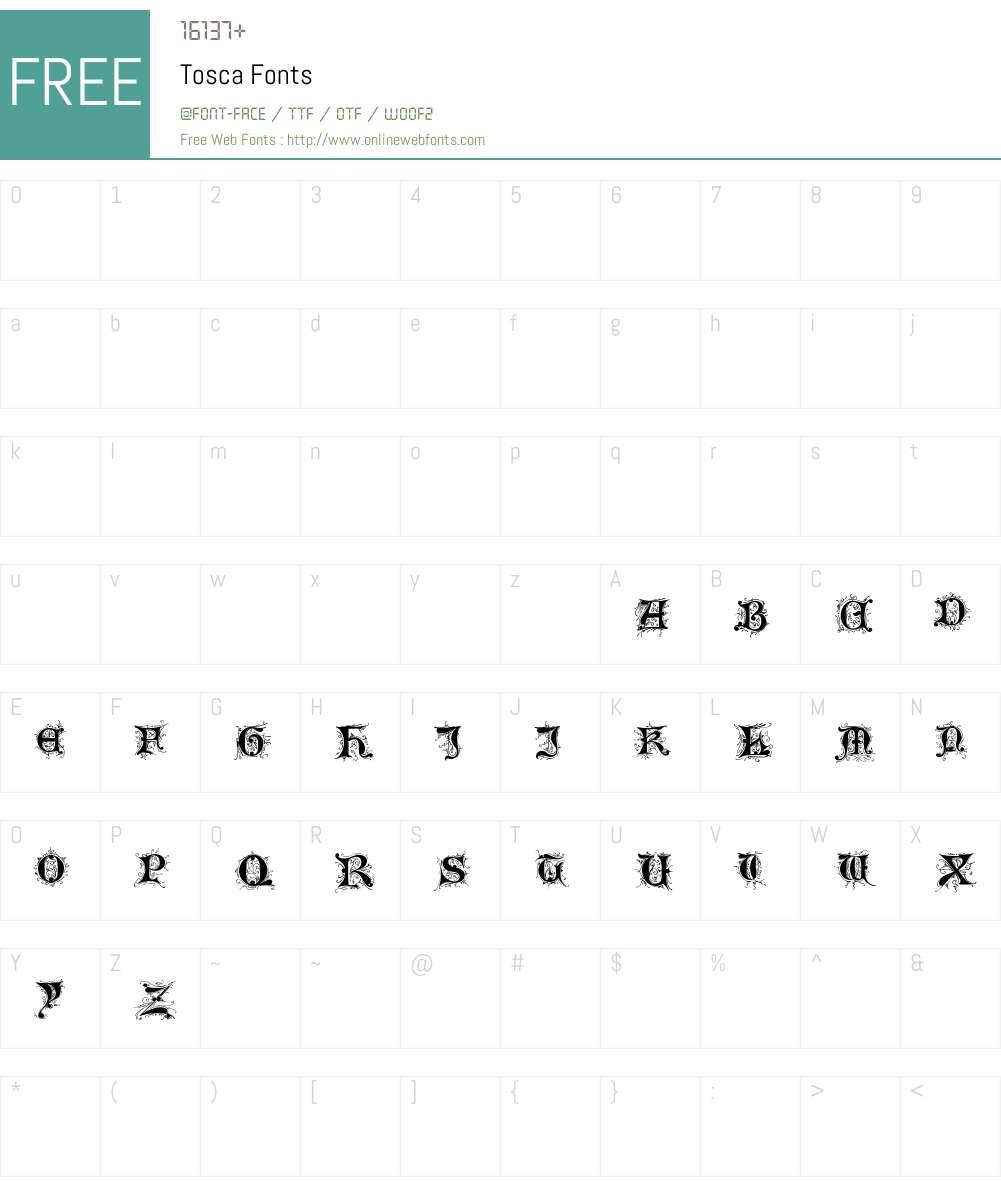 Tosca Font Screenshots