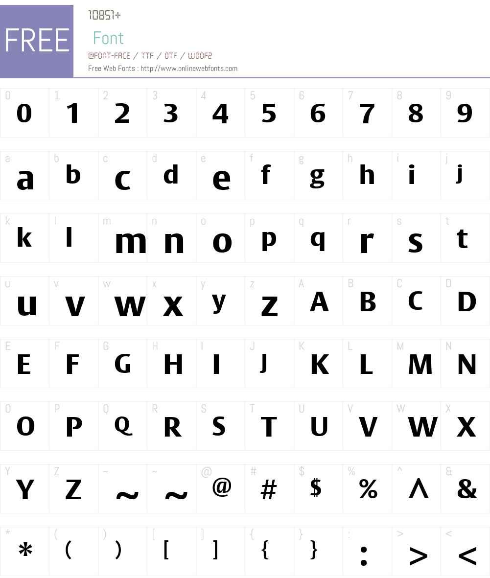 BigVestaW01-ExtraBold Font Screenshots