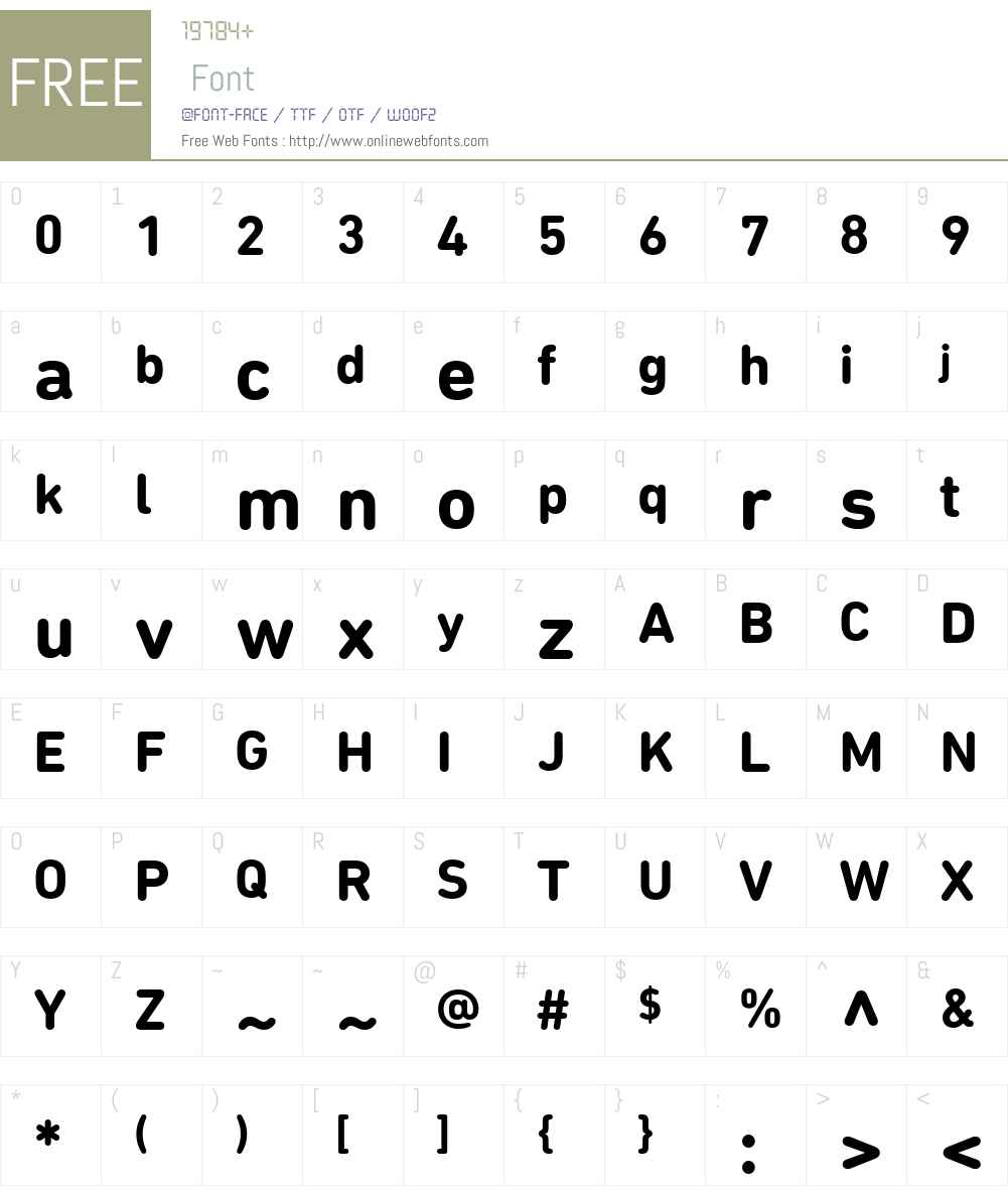 DIN Next Font Screenshots