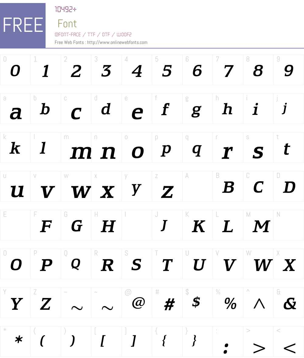 EquestrienneMediumItalic Font Screenshots