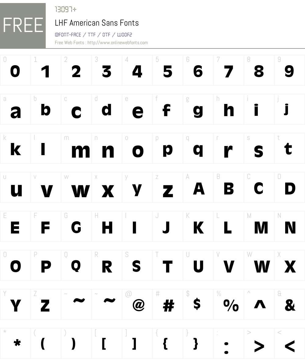 LHF American Sans Font Screenshots