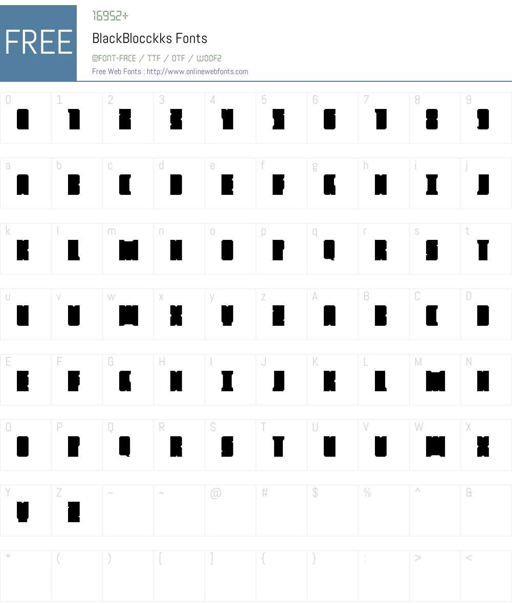 BlackBlocckks Font Screenshots