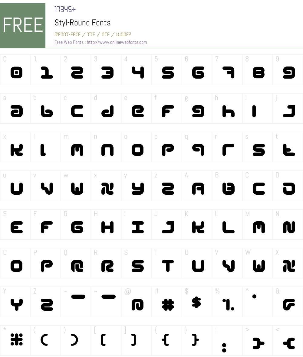 Styl Font Screenshots