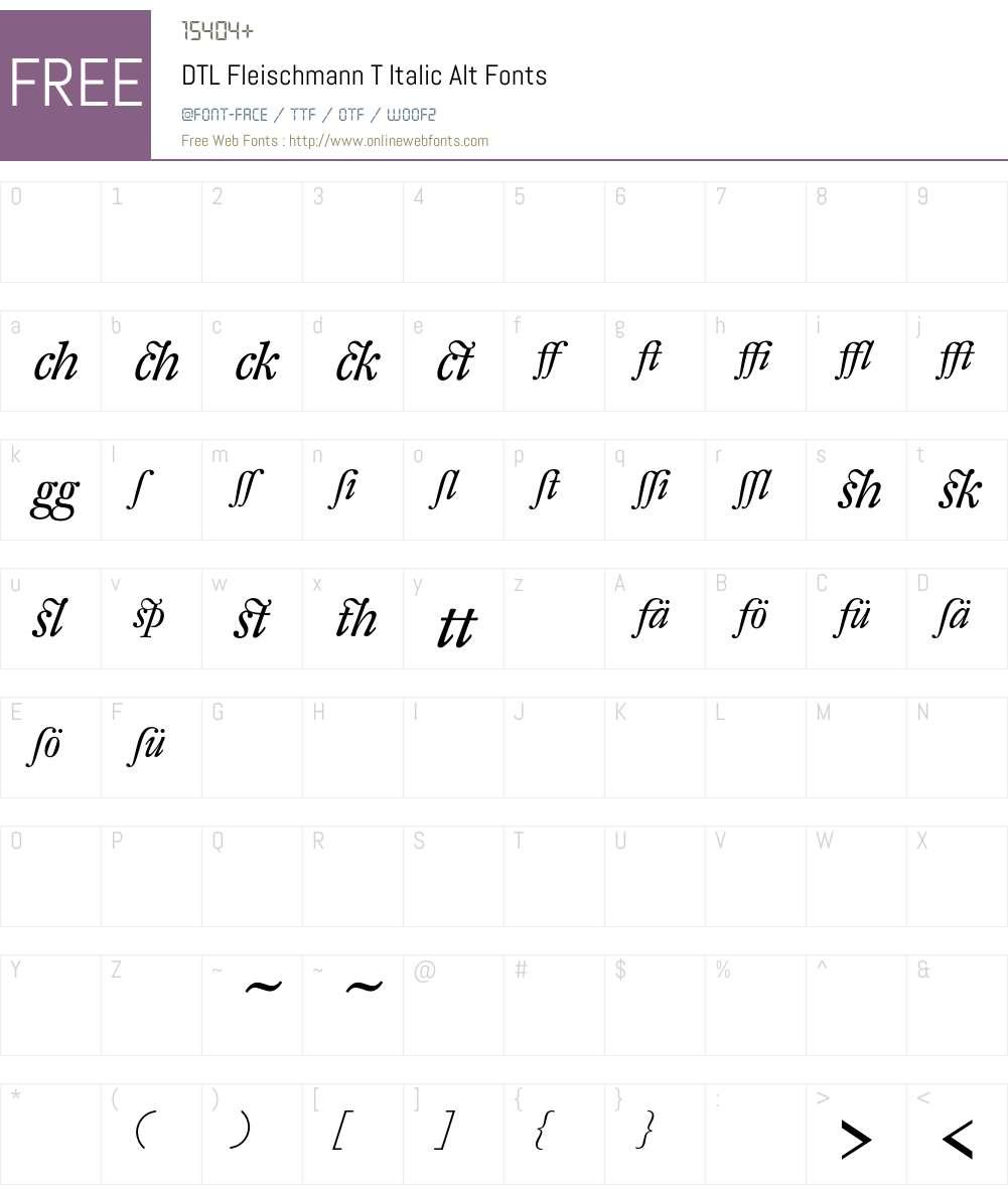 DTL Fleischmann Font Screenshots