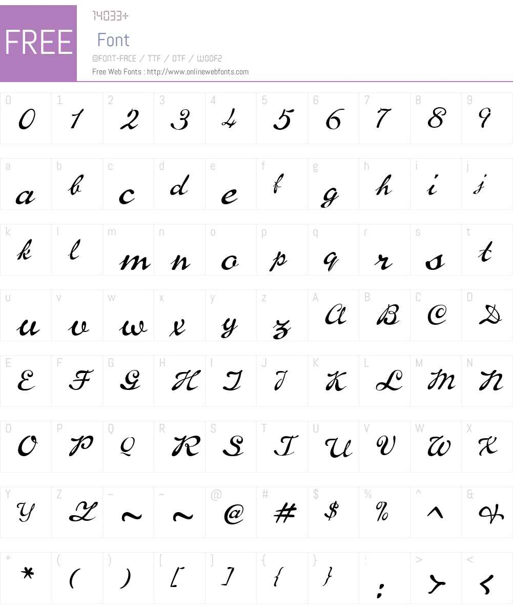 P22BrassScriptW00-Regular Font Screenshots
