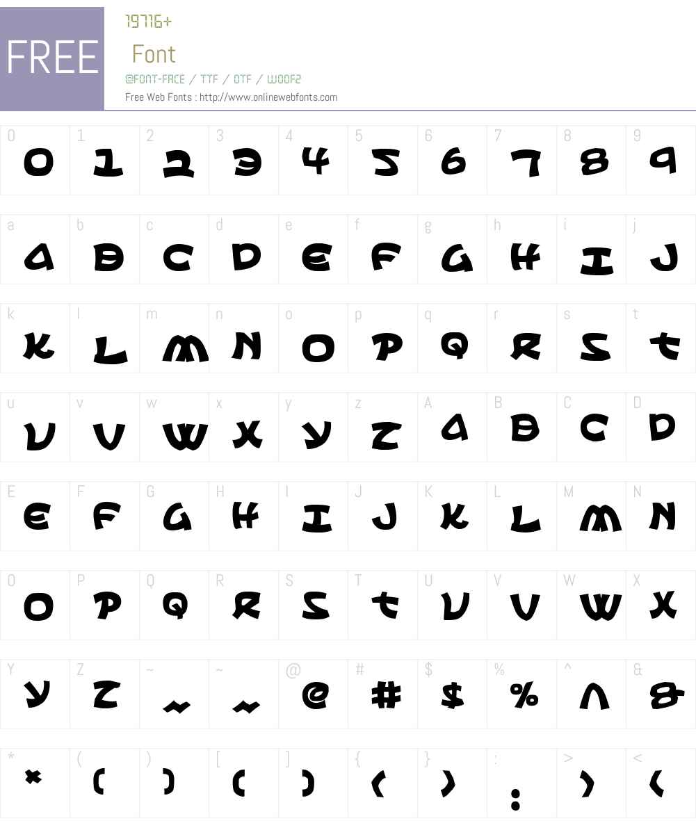 Ephesian Bold Font Screenshots