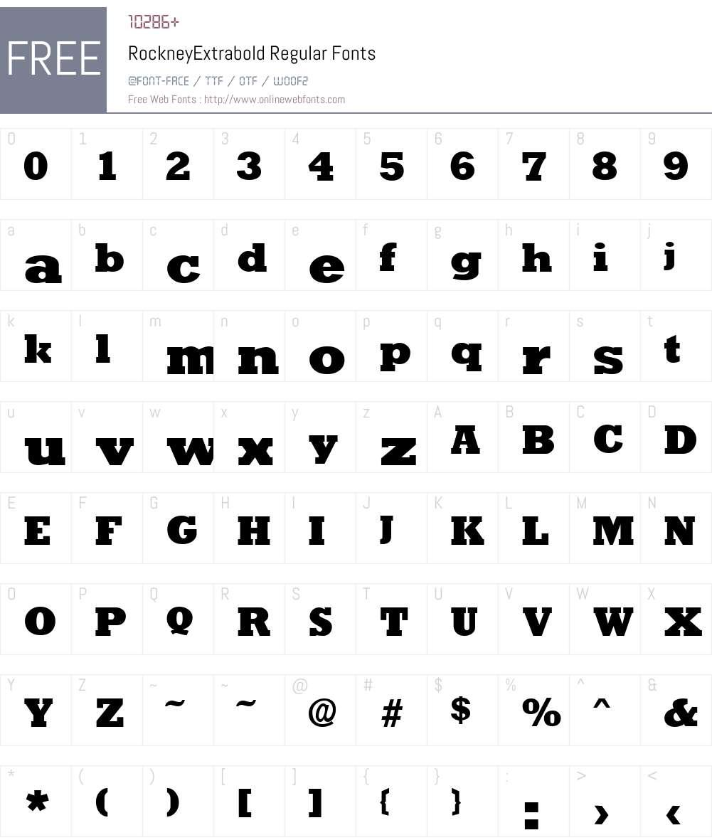 RockneyExtrabold Font Screenshots