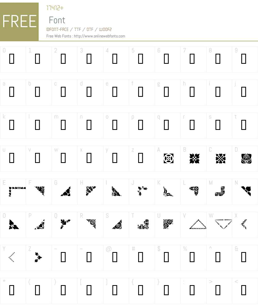 Corners & Borders Font Screenshots