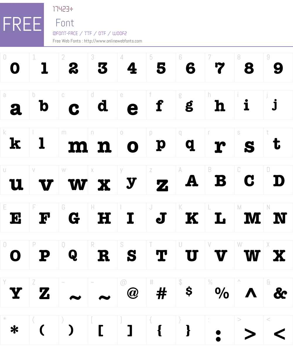 ITC American Typewriter Std Font Screenshots