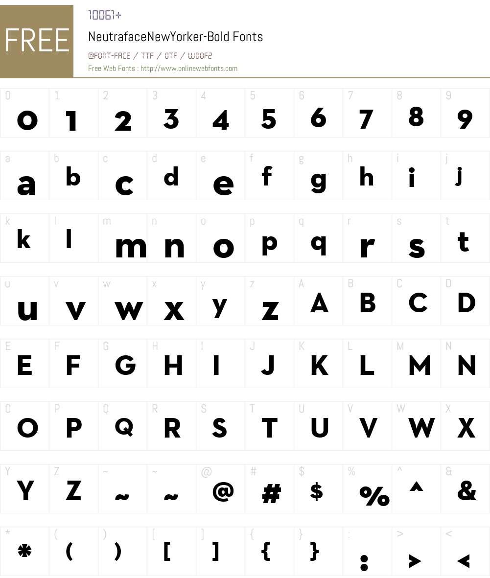 Neutraface New Yorker Bold Font Screenshots