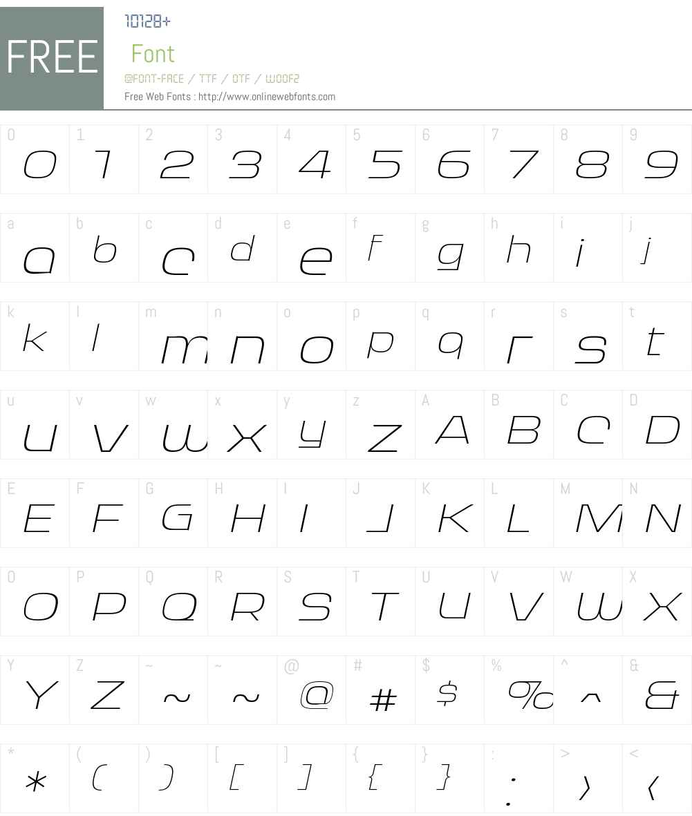 RitafureyW00-ExtraLightIt Font Screenshots