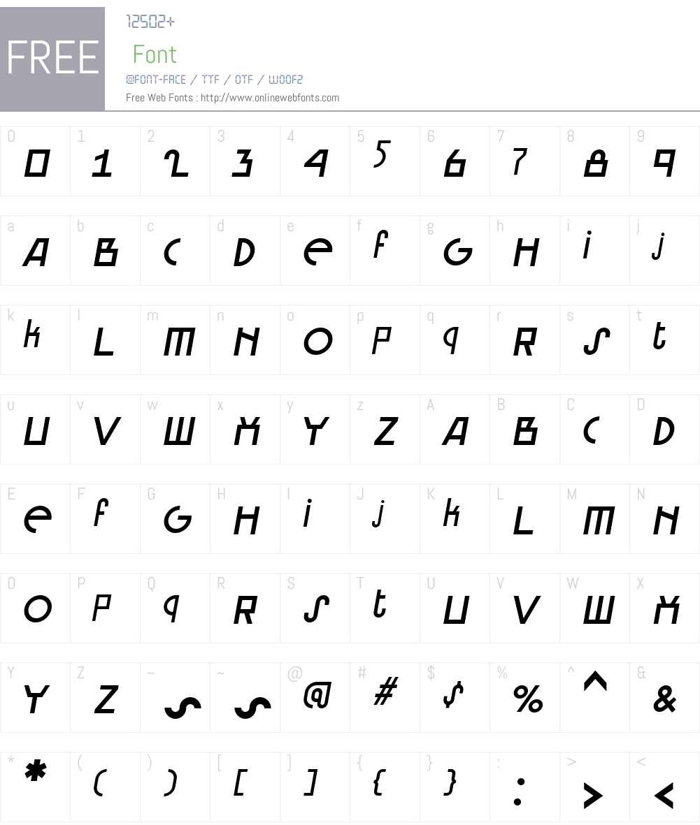 Brusque Font Screenshots