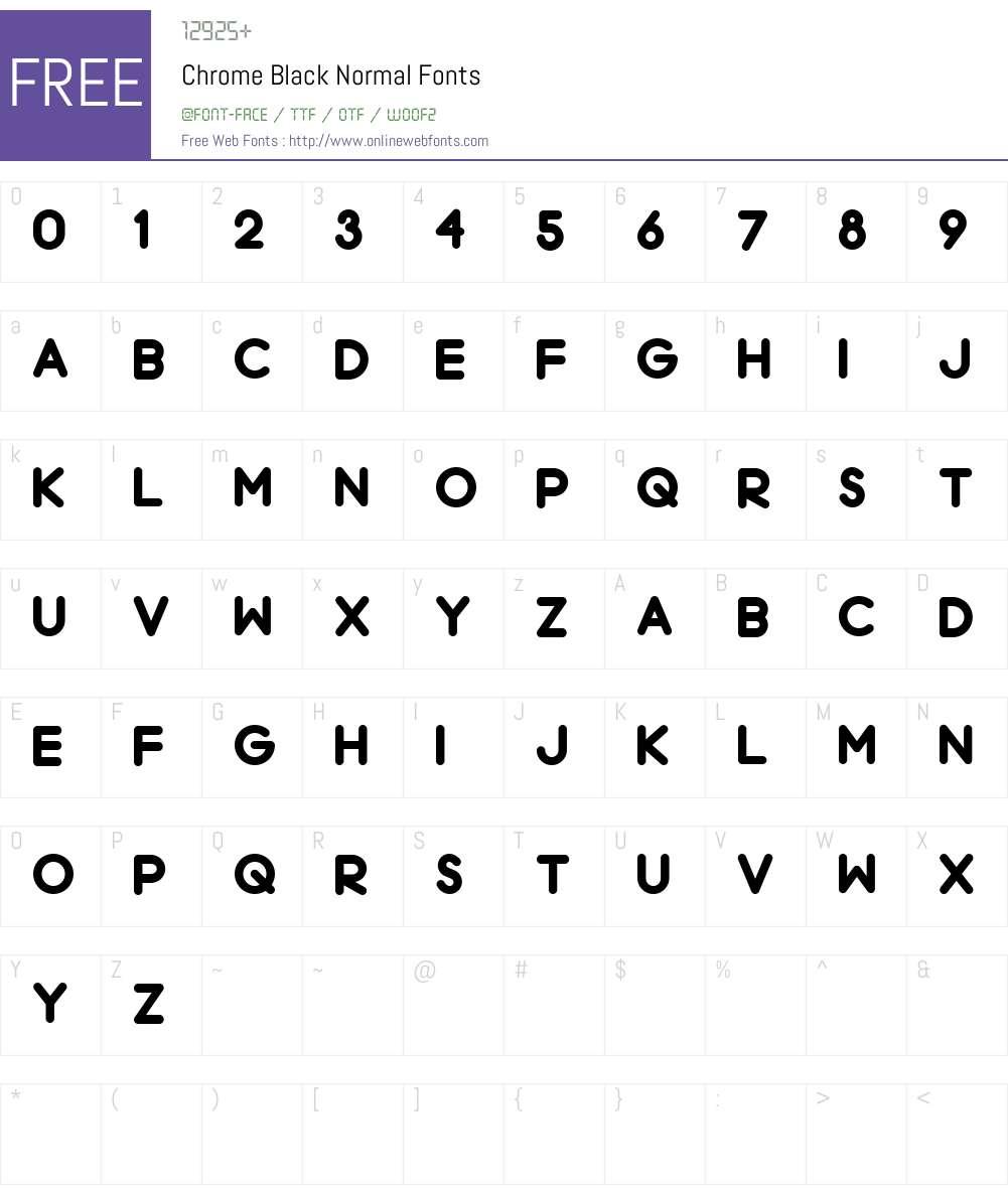 Chrome Black Font Screenshots
