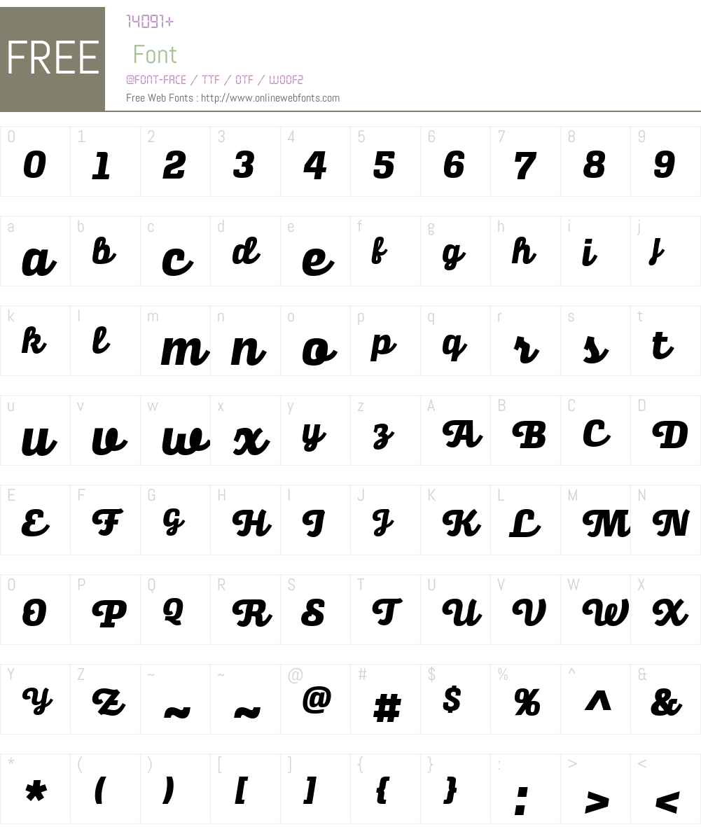 AlianzaW03-Script800 Font Screenshots