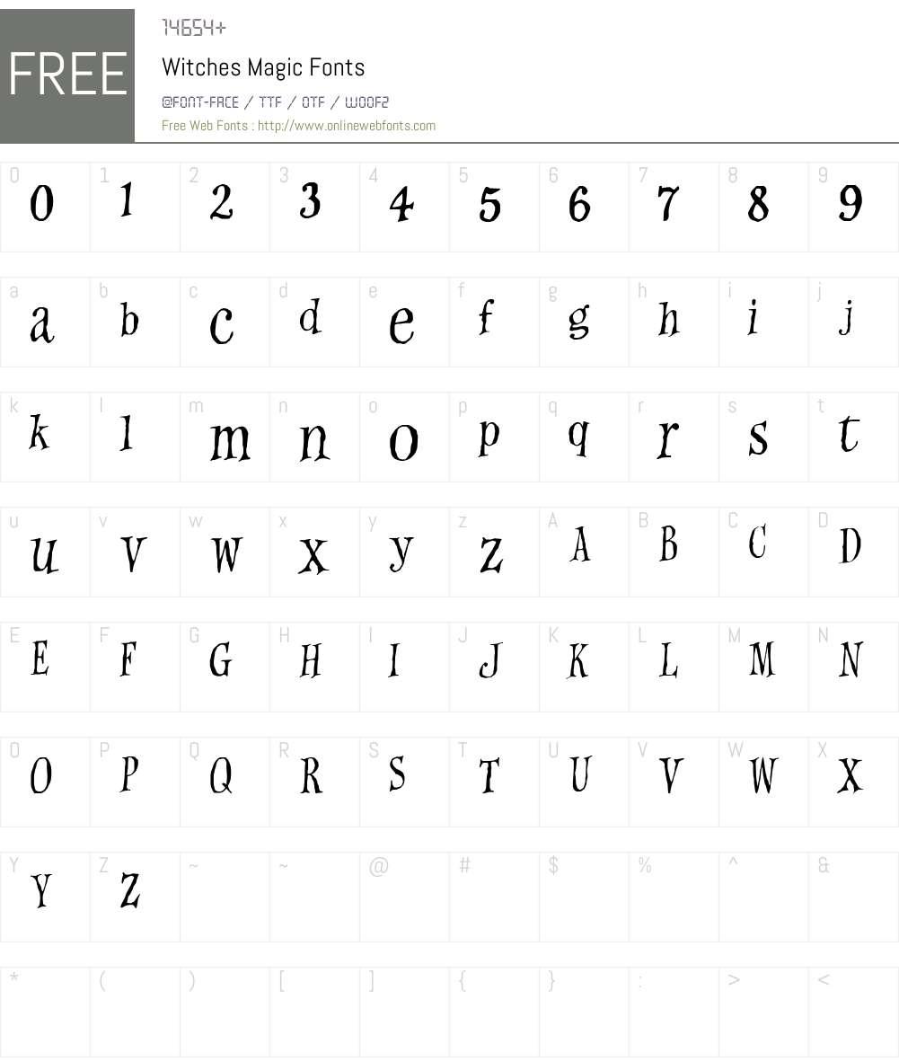 Witches Magic Font Screenshots