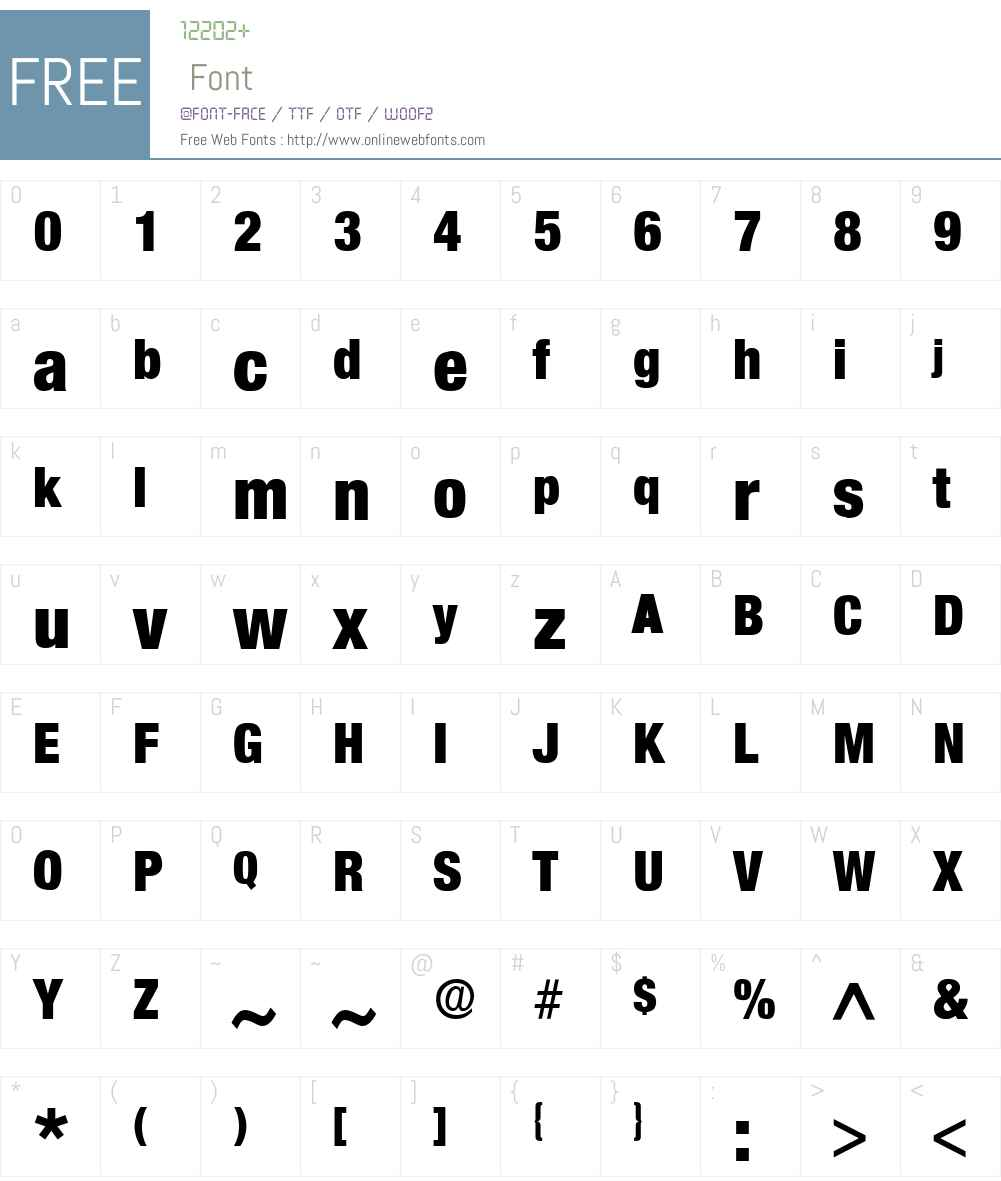 Acmo Display SSi Font Screenshots