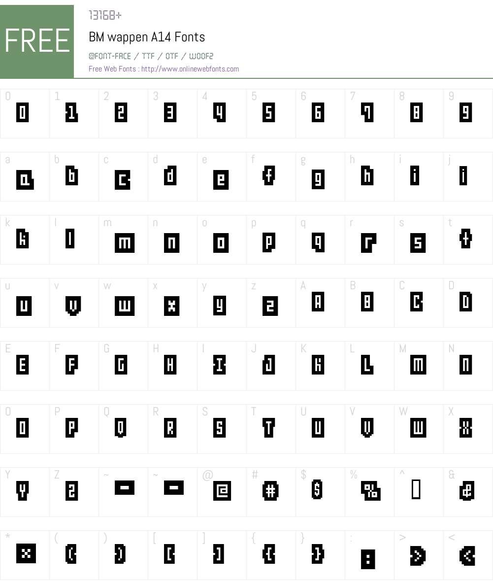 BM wappen Font Screenshots