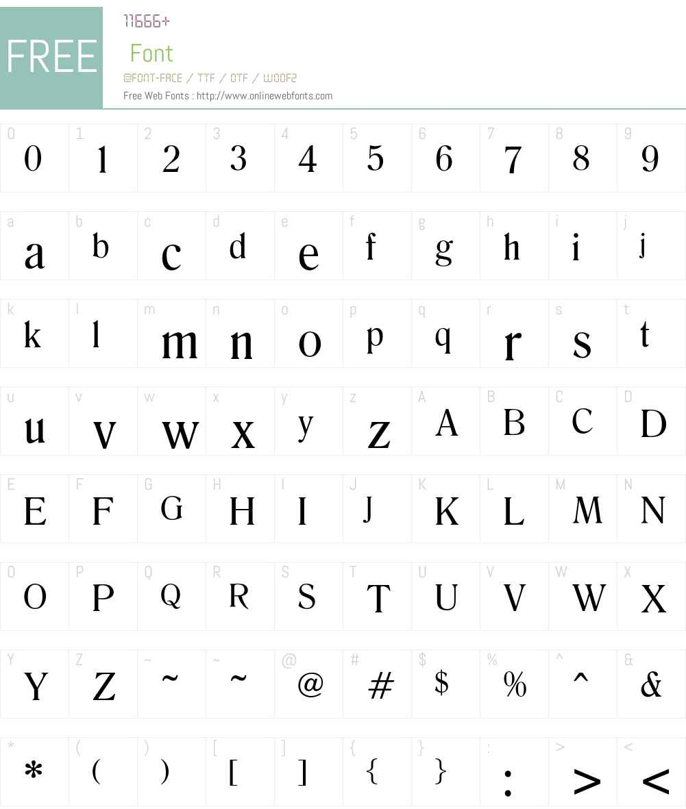 Emilia Font Screenshots