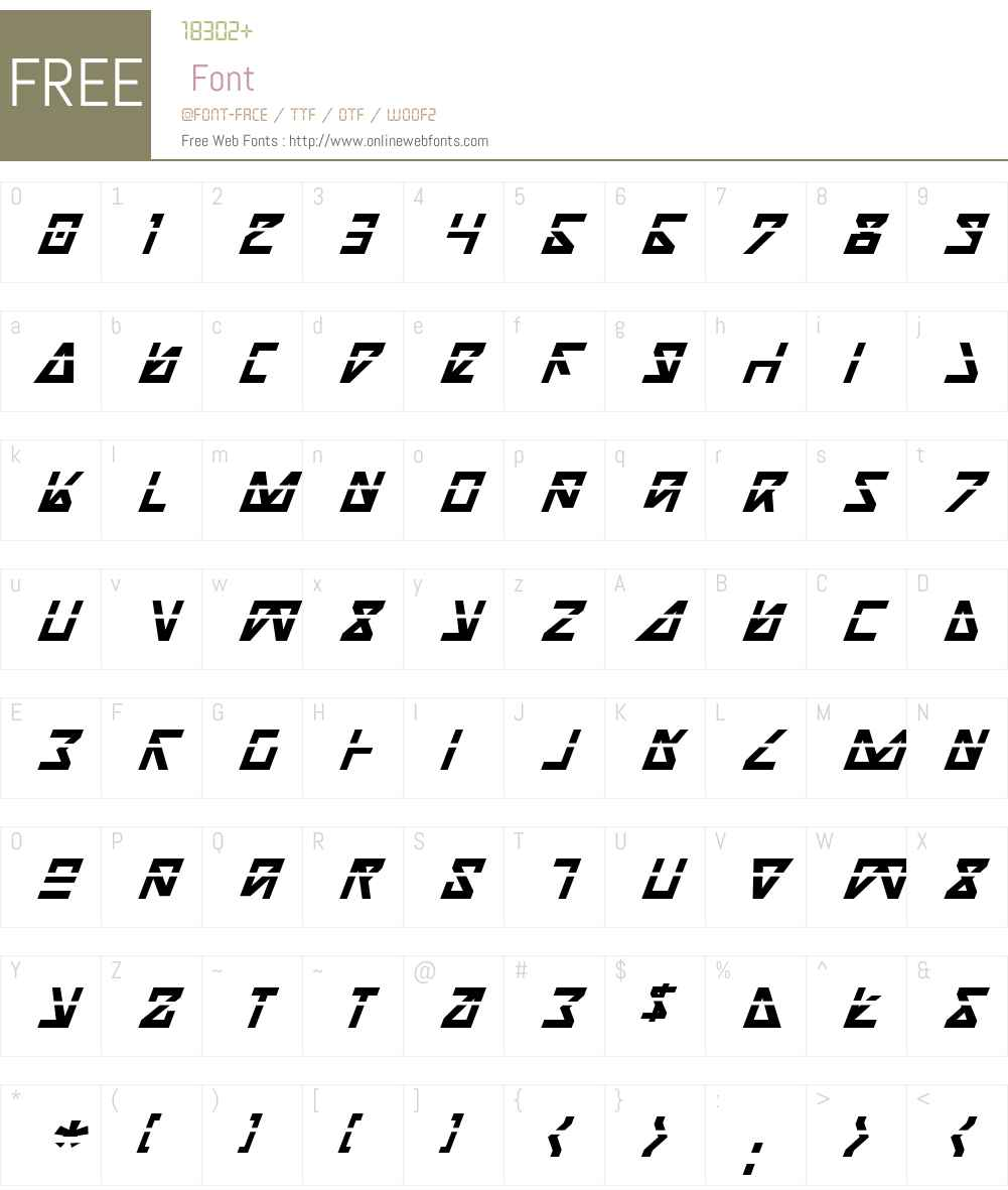 Nick Turbo Bold Italic Las Font Screenshots
